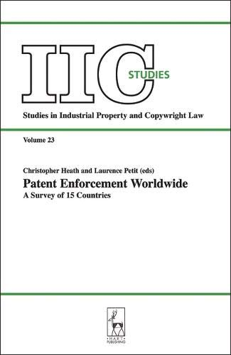 9781841135380: Patent Enforcement Worldwide: A Survey of 15 Countries (Studies in Industrial Property & Copyright Law)