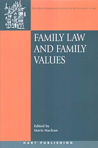 9781841135472: Family Law and Family Values (Onati International Series in Law and Society)