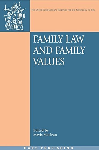 9781841135489: Family Law and Family Values (Onati International Series in Law and Society)