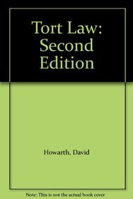 9781841135724: Tort Law: Second Edition