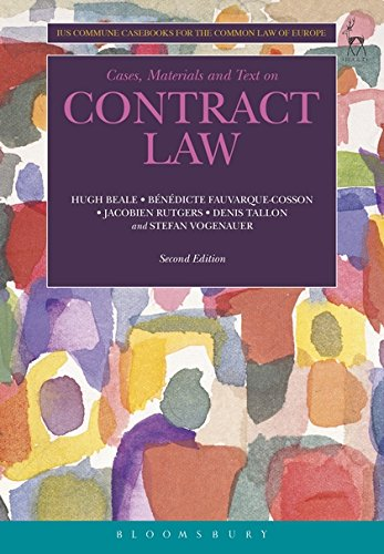 9781841136042: Cases, Materials and Text on Contract Law: Ius Commune Casebooks for the Common Law of Europe (Second Edition)