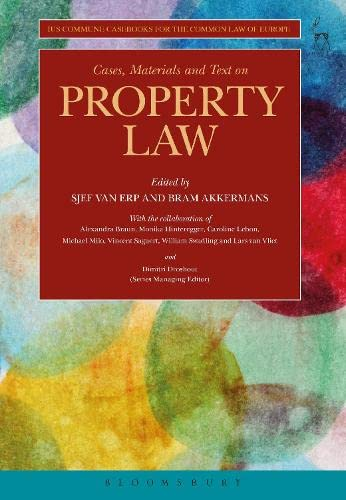 9781841137506: Cases, Materials and Text on Property Law: Ius Commune Casebooks for the Common Law of Europe