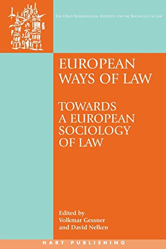 9781841137780: European Ways of Law: Towards a European Sociology of Law (Onati International Series in Law and Society)