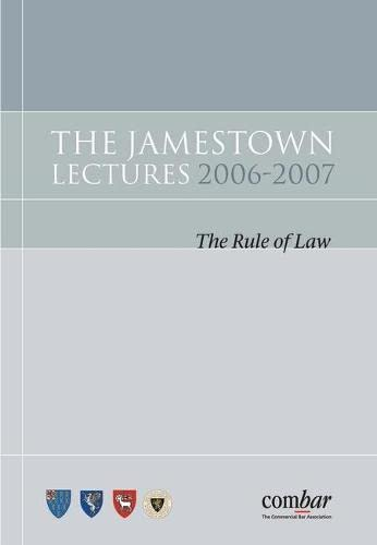 9781841138084: The Jamestown Lectures 2006-2007: The Rule of Law
