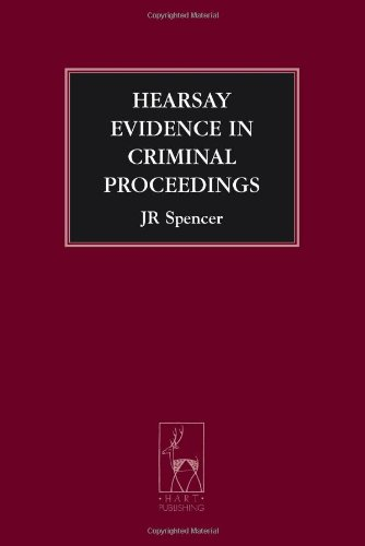 9781841138121: Hearsay Evidence in Criminal Proceedings (Criminal Law Library)