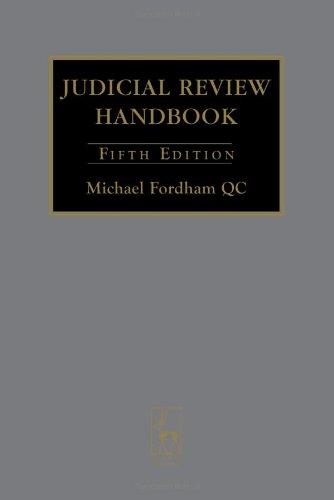 9781841138244: Judicial Review Handbook: Fifth Edition