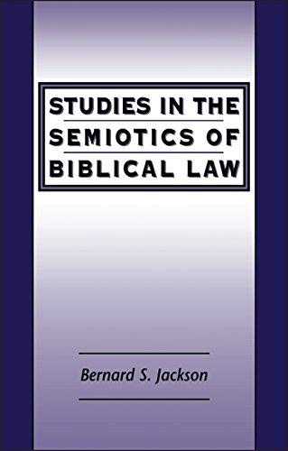 9781841271507: Studies in the Semiotics of Biblical Law (JSOT Supplement)