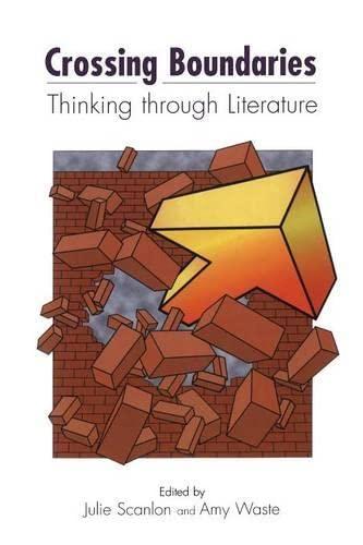 9781841272320: Crossing Boundaries: Thinking Through Literature