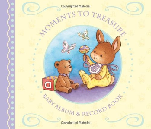 9781841357614: Moments To Treasure: Baby Album and Record Book with Keepsake Memory Box