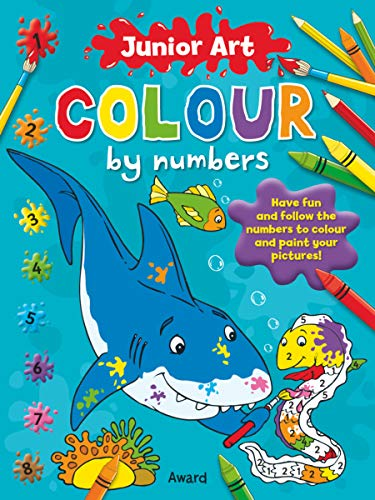 9781841358581: Colour by Numbers - Shark (Junior Art)