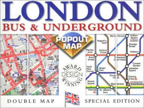 9781841391656: London Bus & Underground Popout Map: Double Map: Special Edition