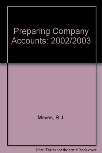 9781841402390: Preparing Company Accounts: 2002/2003