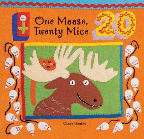 9781841482859: One Moose, Twenty Mice (A Barefoot Board Book)