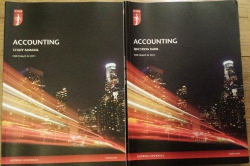 9781841524177: ACA Accounting Study manual