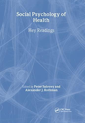 9781841690162: Social Psychology of Health: Key Readings (Key Readings in Social Psychology)