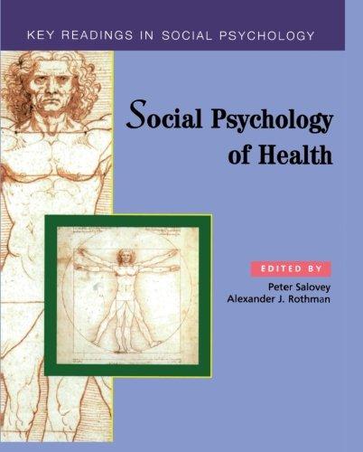 9781841690179: Social Psychology Of Health: Key Readings (Key Readings in Social Psychology)