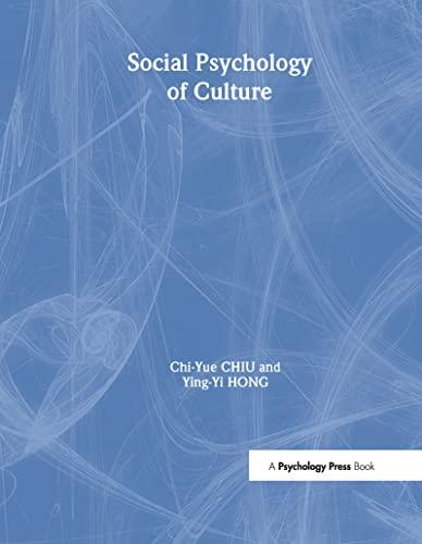 9781841690858: Social Psychology of Culture (Principles of Social Psychology)