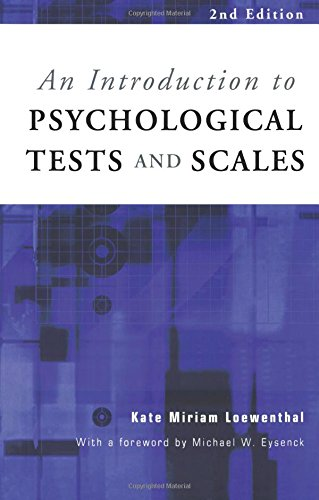 9781841691398: An Introduction to Psychological Tests and Scales (Textbook)