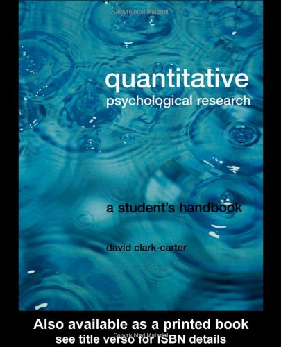 9781841692258: Quantitative Psychological Research: The Complete Student's Companion: A Student's Handbook