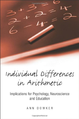 9781841692357: Individual Differences in Arithmetic: Implications for Psychology, Neuroscience and Education