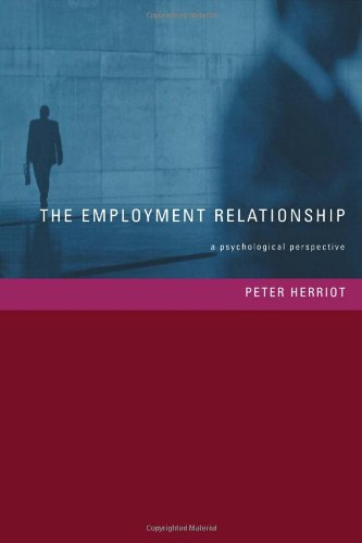 9781841692395: The Employment Relationship: A Psychological Perspective