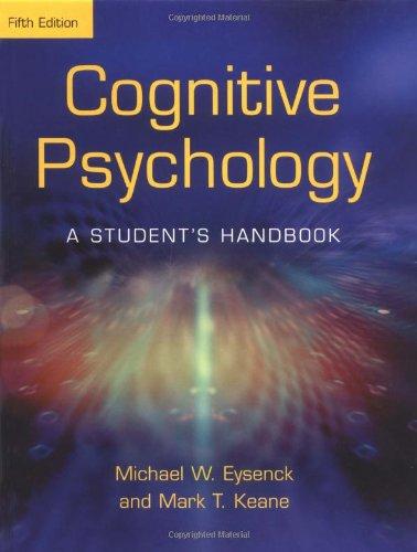 9781841693583: Cognitive Psychology: A Student's Handbook