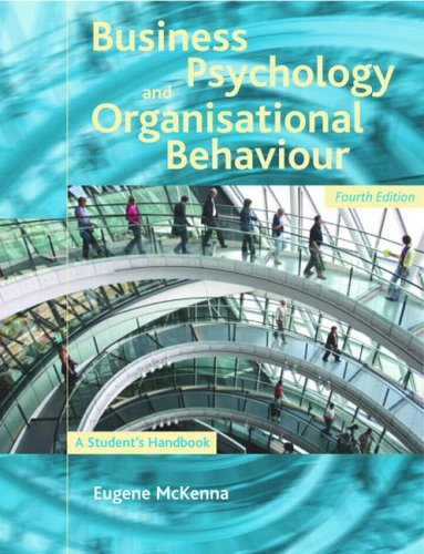 9781841693910: Business Psychology and Organisational Behaviour: A Student's Handbook