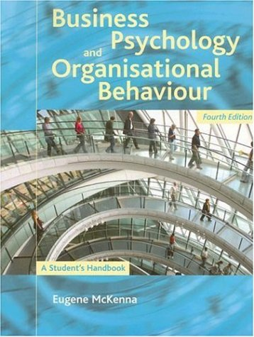 9781841693927: Business Psychology and Organisational Behaviour: A Student's Handbook