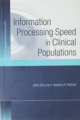9781841694764: Information Processing Speed in Clinical Populations (Studies on Neuropsychology, Neurology and Cognition)
