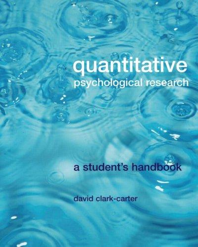 9781841695204: Quantitative Psychological Research: The Complete Student's Companion
