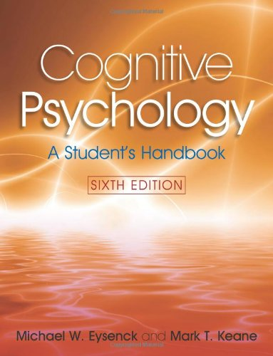 9781841695402: Cognitive Psychology: A Student's Handbook, 6th Edition