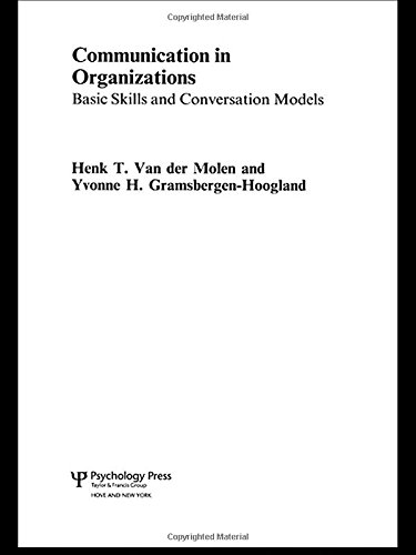 9781841695556: Communication in Organizations: Basic Skills and Conversation Models