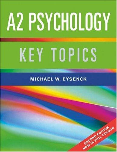 9781841696195: A2 Psychology: Key Topics