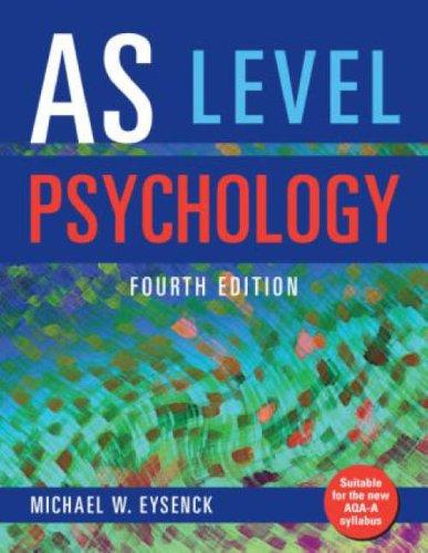 9781841697116: AS Level Psychology