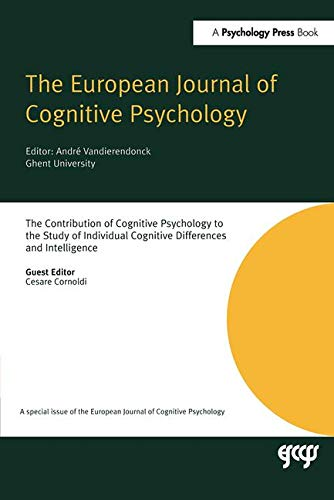 The Contribution of Cognitive Psychology to the: Cesare Cornoldi