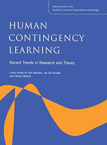 9781841698243: Human Contingency Learning: Recent Trends in Research and Theory: A Special Issue of the Quarterly Journal of Experimental Psychology (Special Issues ... Quarterly Journal of Experimental Psychology)