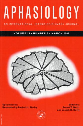 9781841699097: Remembering Frederic L. Darley: A Special Issue of Aphasiology (Special Issues of Aphasiology)