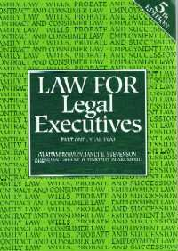 9781841740300: LAW FOR LEGAL EXECUTIVES