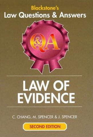9781841741017: Law of Evidence (Blackstone's Law Q & A)
