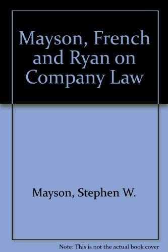 Mayson, French and Ryan on Company Law, 2001-2002