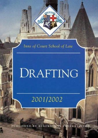 9781841742274: Drafting 2001-2002 (Inns of Court Bar Manuals)
