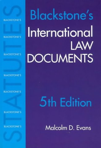 9781841742670: International Law Documents (Blackstone's Statute