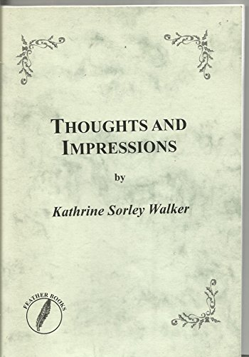 9781841752945: Thoughts and Impressions (Feather Books Poetry Series)