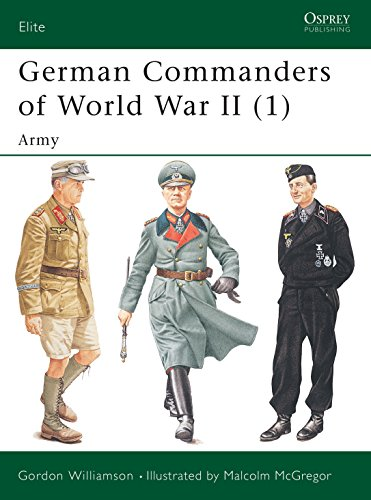 9781841765969: German Commanders of World War II (1): Army (Elite)
