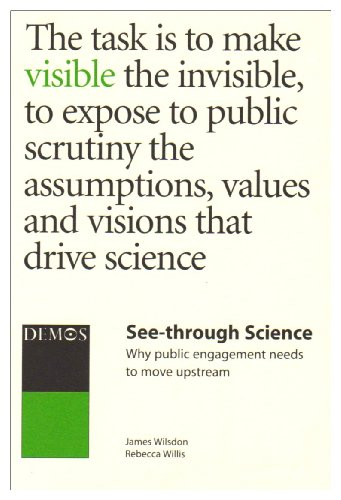 9781841801308: See-Through Science : Why Public Engagement Needs to Move Upstream