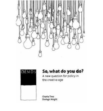 9781841801858: So, What Do You Do?: A New Question for Policy in the Creative Age