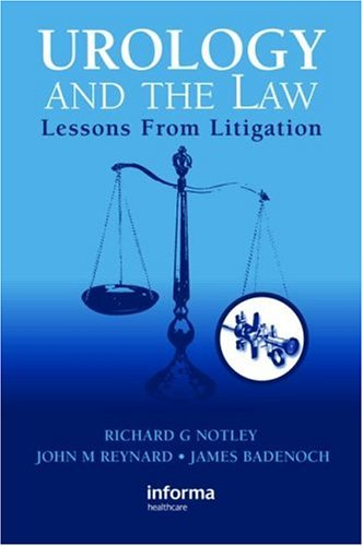 9781841845166: Urology and the Law: Lessons from Litigation