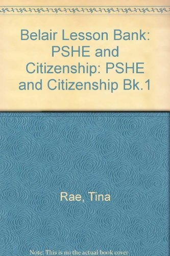9781841910932: Belair Lesson Bank: PSHE and Citizenship (Bk.1)