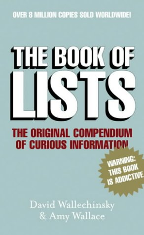 9781841955537: The Book of Lists: The Original Compendium of Curious Information
