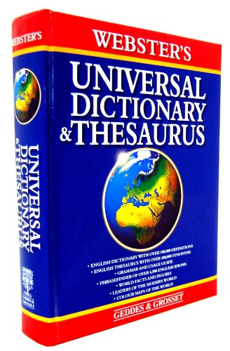 9781842051887: Webster's Universal Dictionary and Thesaurus